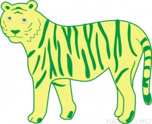 Dibujos de tigres infantiles