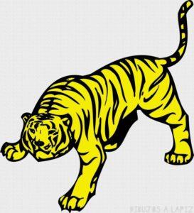 Un tigre en dibujo