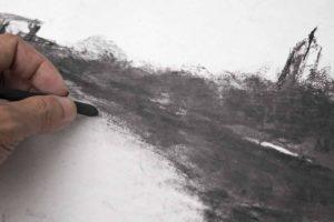 como dibujar con carboncillo