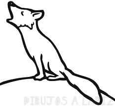 dibujo de zorro para niños