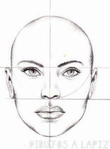 facil dibujo de una cara a carbon