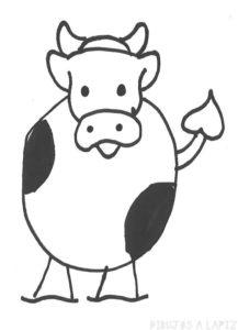 imagenes de una vaca para dibujar
