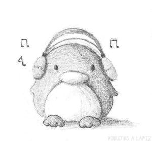 pinguino dibujo animado