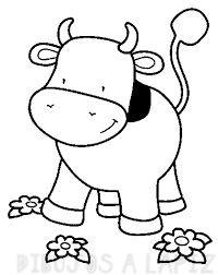 vaca animada para colorear