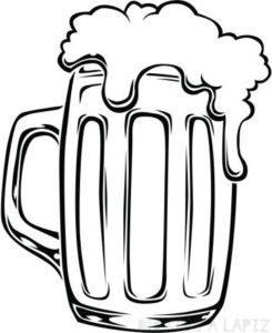 dibujo de botella de cerveza
