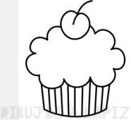 dibujos de cupcakes para colorear