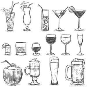 dibujos faciles de comida