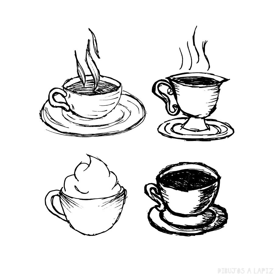 ᐈ Dibujos De Cafetoptacitas De Café Para Pintar