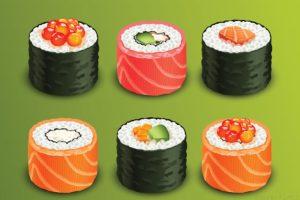 fotos de sushi rolls scaled