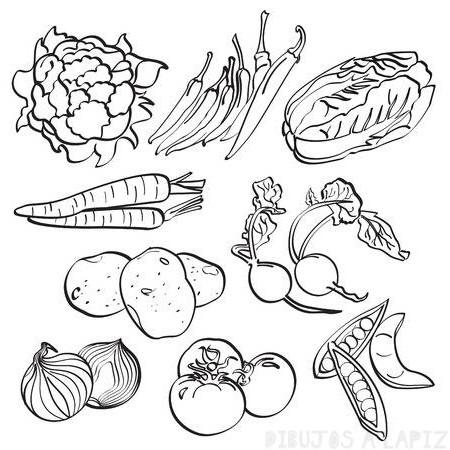 ᐈ Dibujos De Verduras Top 30 Sanas Animadas Y Kawaii