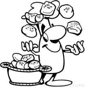 panadero dibujo