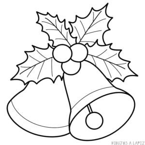 campanas de navidad para dibujar