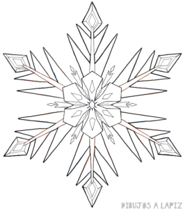como hacer copos de nieve de frozen