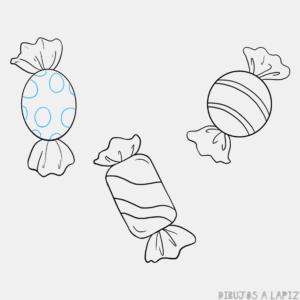 dibujos de dulces para colorear