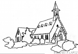 iglesia dibujo animado