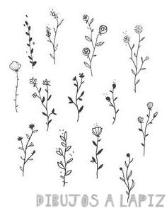 como dibujar flores faciles