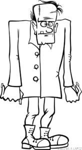 como dibujar frankenstein