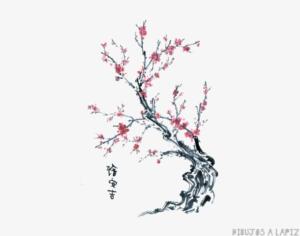 como pintar un arbol de cerezo