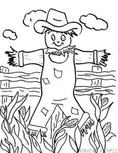 dibujo espantapajaros infantil