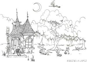 dibujos de castillos de princesas