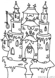 dibujos de castillos infantiles