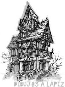 dibujos de castillos para niños
