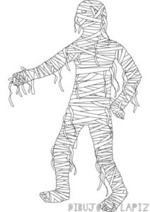 dibujos momias egipcias