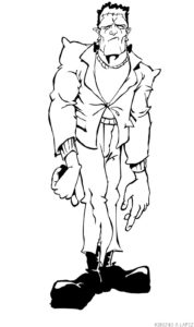 dibujos para colorear de frankenstein