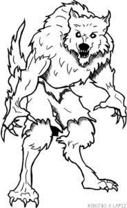 el hombre lobo dibujos