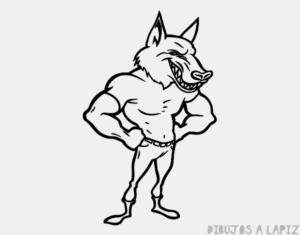 hombre lobo para colorear