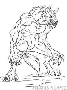 hombre lobo para niños