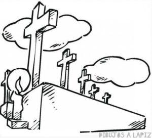 imagenes de cementerios para colorear