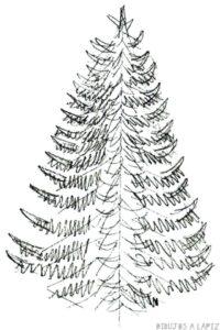 pinos de navidad para dibujar